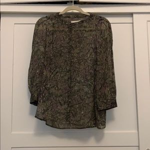 Madewell sheer blouse
